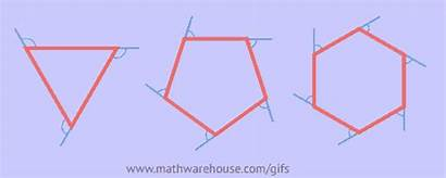 Angles Polygon Animated Gifs Exterior Math Geometry
