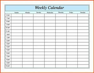 weekly calendar with hours weekly calendar template With one week calendar template excel