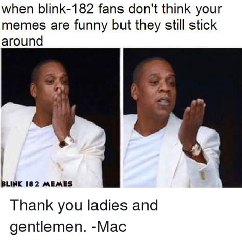Blink 182 Meme - when blink 182 fans don t think your memes are funny but they still stick around blink 18 2