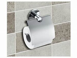 Dérouleur De Papier Toilette : d rouleur papier toilette avec rabat fixation murale ~ Teatrodelosmanantiales.com Idées de Décoration