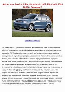 Saturn Vue Service Repair Manual 2002 2003 20 By