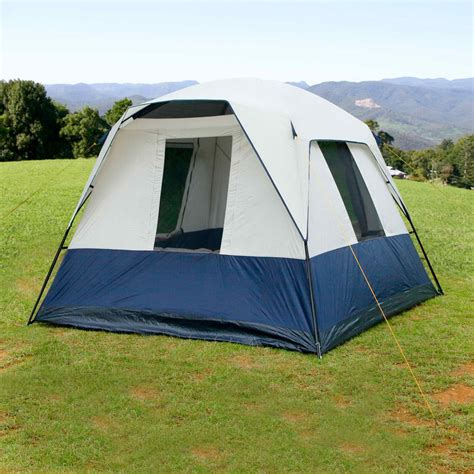 4 person cabin tent 4 person family cing tent navy grey