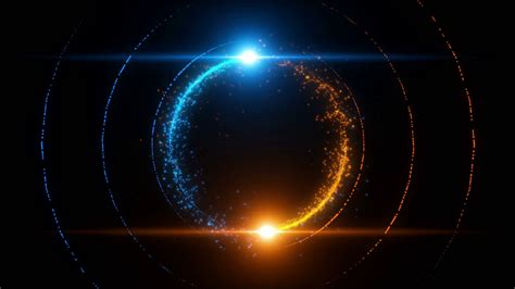 After Effects Particulas Template Luces by Lens Flares Spinning And Forming Particles Ring Blue