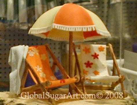 beach chairs beach cupcakes beach cakes