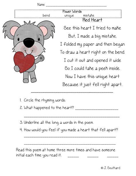kids reading comprehension worksheets for grade graders