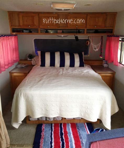 putter home camper rv bedroom makeover weekend home
