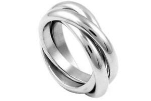 triple band rolling russian wedding ring commitment