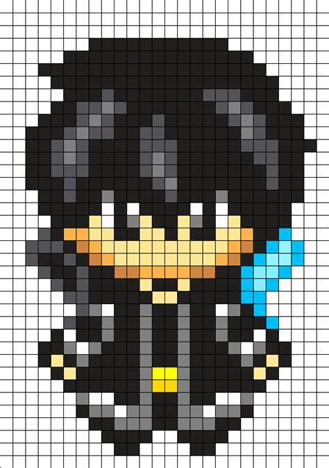 kirito sword art  perler bead pattern cool pixel