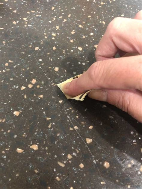 corian scratches how to fix scratches on corian countertops easy diy tutorial