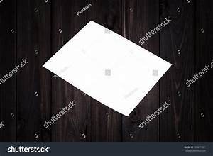 Photo Blank Paper Cover On Wooden Stock Photo 500277481 ...