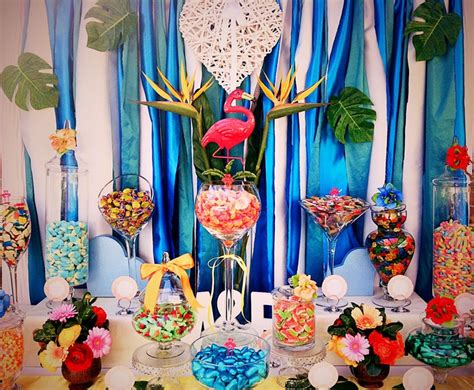 tropical romance candy buffet lolly buffet  candy land