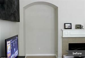 TV Nook Makeover Alcove Before And After