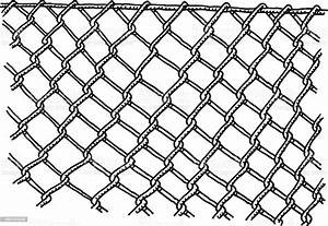 Wire Mesh Fence Drawing Stock Illustration