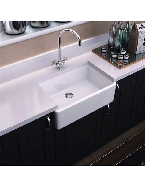 white porcelain kitchen sinks denby legacy 600 butler kitchen sink with without 1451