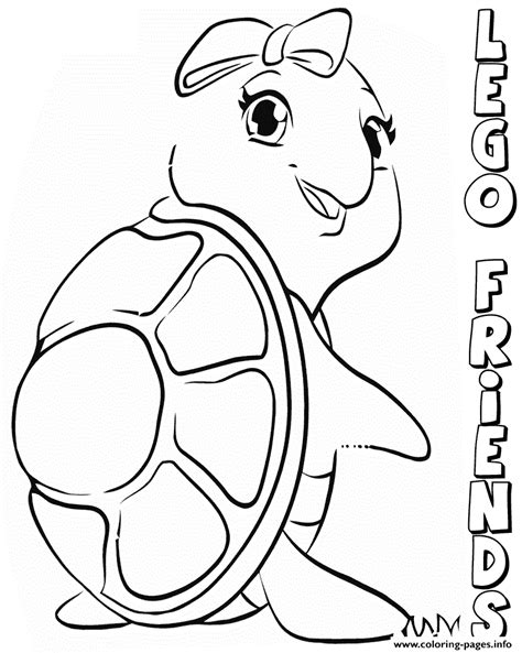 Lego Frends Free Colouring Pages