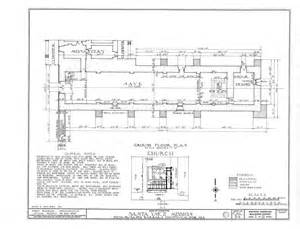 mission floor plans architectural drawings california missions resource center