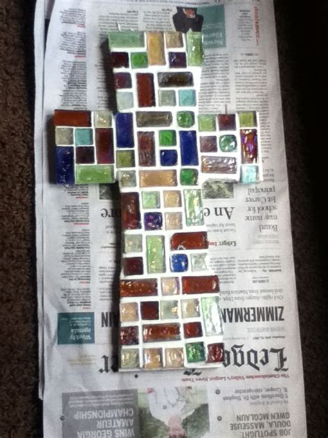 easy diy craft mosaic just purchase wooden cross mosaic tiles and mortar from any hobby
