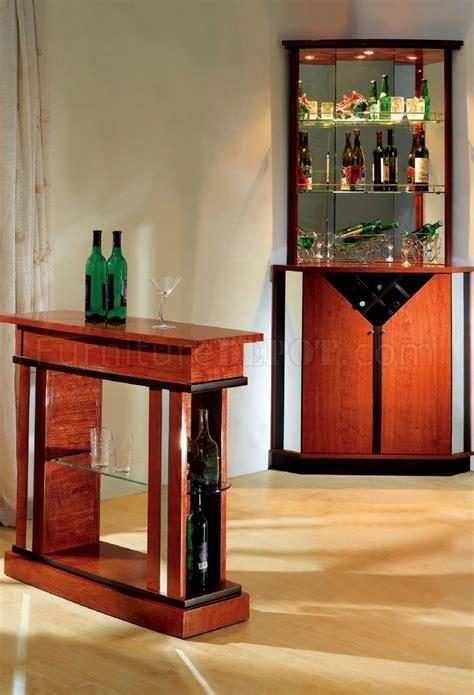 cherry contemporary bar table wglass shelves