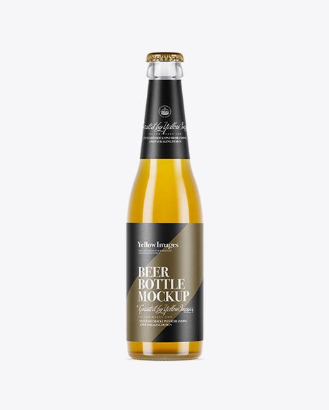 Free beer bottle mockup with ability to paste any label shape and color. 500ml Clear Glass Lager Beer Bottle Mockup - Clear Glass ...