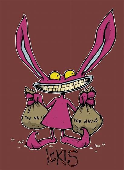 Ickis Monsters Deviantart Aaahh Ahh Nickelodeon Cartoon