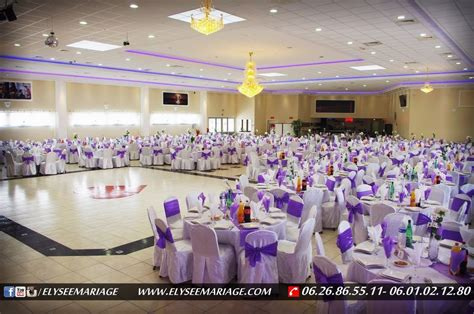 salle de mariage 95 pr 233 sentation de d 233 coration couleur violet de la salle elys 233 e mariage