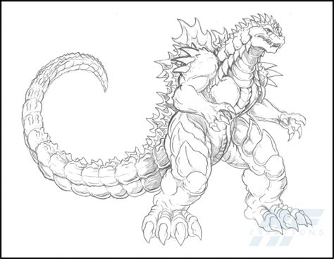 godzilla coloring pages coloring home