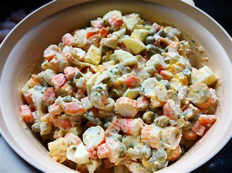 cuisine russe recettes les meilleures recettes de salade macédoine