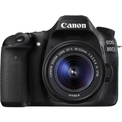canon with canon eos 80d digital slr with 18 55mm is stm lens