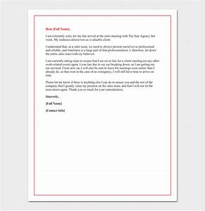 Apology Letter for ing Late in Office  Sample Letter
