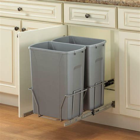 Cabinet Garbage Cans by Kitchen Stainless In Cabinet Pull Out Trash Can