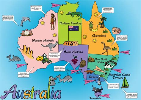Get your printable map of the 7 continents absolutely free. foursquare   Australia for kids, Australia map, Australian ...