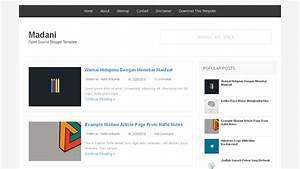 madani open source blogger templates deviar template With open source template engine