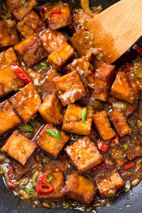 vegan black pepper tofu lazy cat kitchen