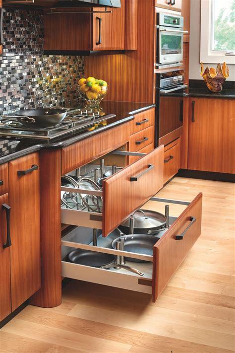 pot  pan storage drawers  kitchen hgtv