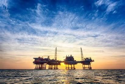 Offshore Oil Petroleum Platform Production Sunset Anadarko