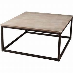Table Basse Industrielle Carrée : table basse carr e lina pas cher prix auchan ~ Teatrodelosmanantiales.com Idées de Décoration