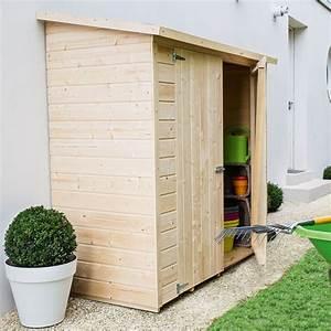 remise adossee bois l170 h180 cm plantes et jardins With remise en bois pour jardin