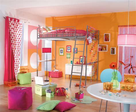 deco fille chambre déco chambre fille orange