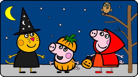 Peppa Pig Coloring Pages For Kids Peppa Pig Coloring Games Peppa Pig Halloween Coloring Book P02