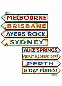 Australian Street Signs Decorations Pk4 [D55340] : Struts