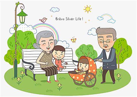 Grandparents And Children, Children Clipart, Grandparents