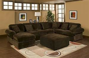 3 pc bradley sectional sofa with chocolate plush velour With plush sectional sofa with chaise