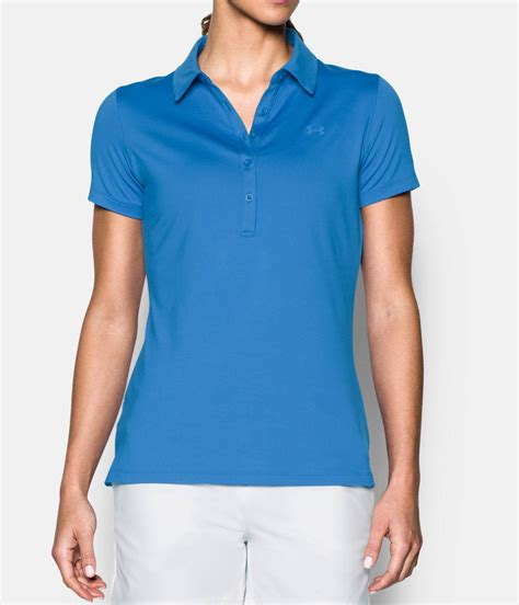 light blue polo shirt womens women 39 s ua zinger short sleeve polo under armour us