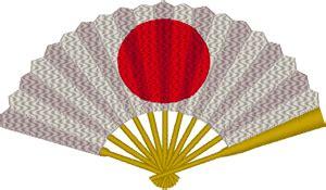 rising sun japanese fan embroidery design