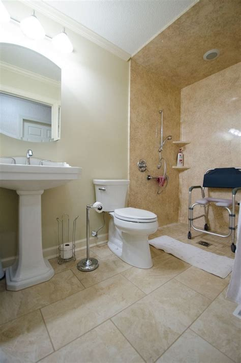 cool wheelchair accessible bathroom design