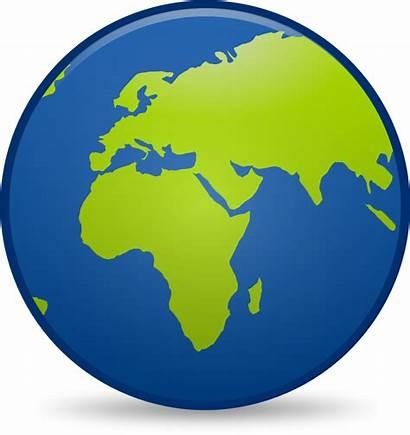 Globe Earth Clipart Clip Icon Cartoon Vector
