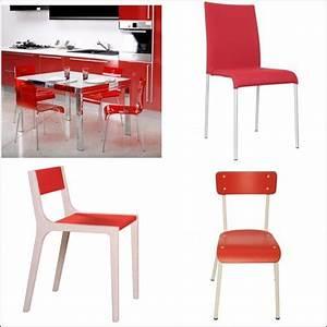 Chaise de cuisine rouge for Deco cuisine avec acheter chaise design