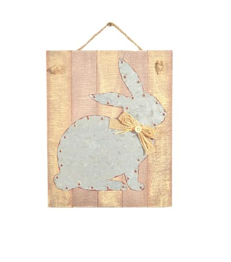 easter wall decor galvanized sitting bunny spring shows