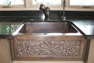 Chameleon bronze farmhouse sink artisan crafted home for Barnyard sink