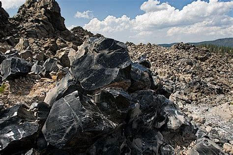 Obsidian Flow, Newberry National Volcanic Monument, Near